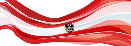オーストリアの赤白のストライプと黒鷲旗オーストリア共和国の国旗
