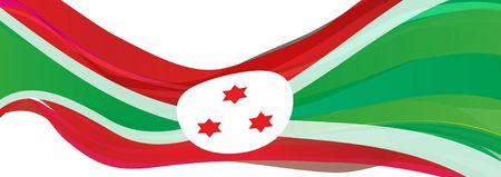 Flag of Burundi, red green with white circle Flag of the Republic of Burundi