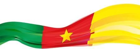Bandera de Camerún, estrella roja verde amarilla Bandera de la República de Camerún Foto de archivo - 77453730