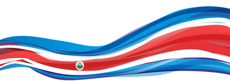Flag of Costa Rica, blue white red Flag of Costa Rica 스톡 콘텐츠