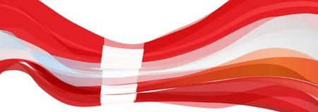 Flag of Denmark, red with white cross Flag of the Kingdom of Denmark Stock Photo