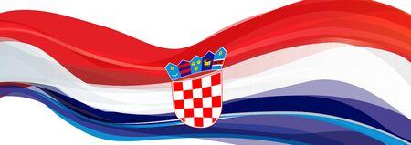 Flag of Croatia, red white blue Flag of Croatia