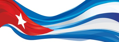 Flag of Cuba, blue white with a red triangle and a five-pointed star Flag of the Republic of Cuba Imagens