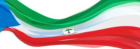 Flag of Equatorial Guinea, green white red flag of the Republic of Equatorial Guinea