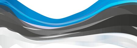 Flag of Estonia, blue black white flag of the Republic of Estonia