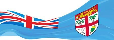 Flag of Fiji, blue flag of the Republic of the Fiji Islands