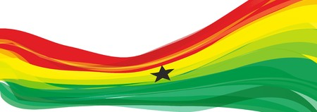 Flag of Ghana, red yellow green with a black five-pointed star Flag of the Republic of Ghana