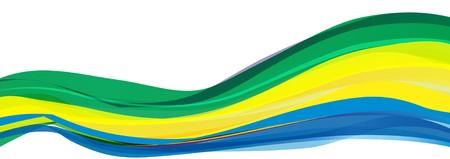 Flag of Gabon, green yellow blue Flag of the Gabonese Republic