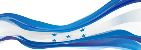 Flag of Honduras, blue and white stripes with a five-pointed star flag of the Republic of Honduras Imagens
