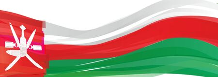 Flag of Oman, red white green Flag of the Sultanate of Oman