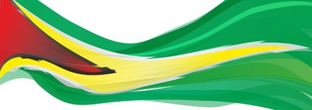 Flag of Guyana, red yellow green flag of the Cooperative Republic of Guyana