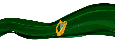 leinster: Flag and coat of arms of Leinster, the national flag of Ireland, Leinster with the Golden harp