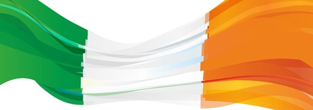 Flag of Ireland, green white orange Flag of the Republic of Ireland Banco de Imagens