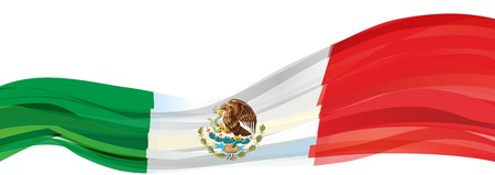 Flag of Mexico, green white red Flag of the United States