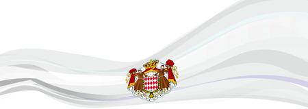 formula one: Flag of Monaco, white Flag of the Principality of Monaco