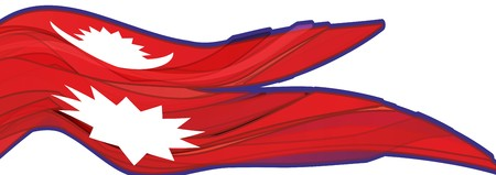 Flag of Nepal, red with white symbols, flag of the Nepal Stock Photo