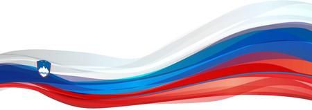former yugoslavia: Flag of Slovenia, white blue red Flag of the Republic of Slovenia