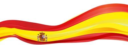 スペイン、スペインの王国の赤い旗の旗 写真素材