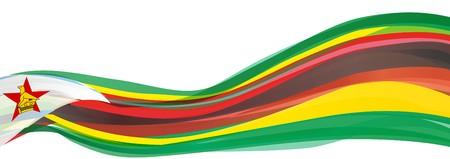 Flag of Zimbabwe, multicolor flag of the Republic of Zimbabwe