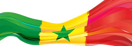 Flag of Senegal, green red yellow star Flag of the Republic of Senegal