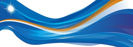 マーシャル諸島、マーシャル諸島の白い星の旗の青の旗