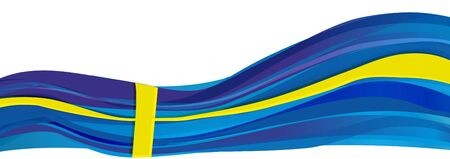 Flag of Sweden, blue with yellow cross flag of the Kingdom of Sweden