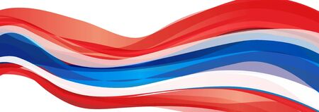 Flag of Thailand, red white striped flag of the Kingdom of Thailand