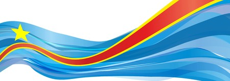 Flag of the Democratic Republic of the Congo, blue with red and yellow stripe and star Flag of the Democratic Republic of the Congo