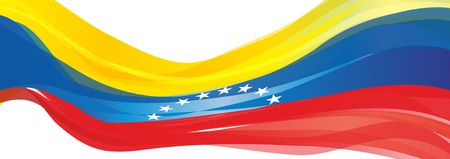 Flag of Venezuela, yellow blue red with white stars the Flag of the Bolivarian Republic of Venezuela