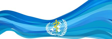 Flag of the World Health Organization, light blue flag of the World Health Organization