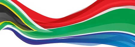 Flag of South Africa, red green blue and black triangle Flag of South Africa