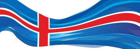 Flag of Iceland, blue with white and red cross Flag of Iceland