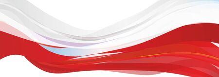 Flag of Poland, white red flag of the Republic of Poland