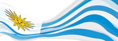 bandera de uruguay: Bandera de Uruguay, rayas azules y blancas con el sol de mayo Bandera de la República Oriental del Uruguay