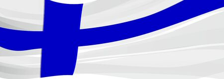 Flag of Finland, white with a blue cross flag of Finland