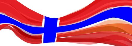 Flag of Norway, red and blue cross Flag of Norway
