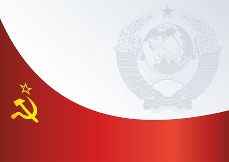 Flag of the Soviet Union, template for the awards, the official document to the flag of the Union of Soviet Socialist Republics 向量圖像
