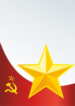 Soviet Union flag design template Illustration