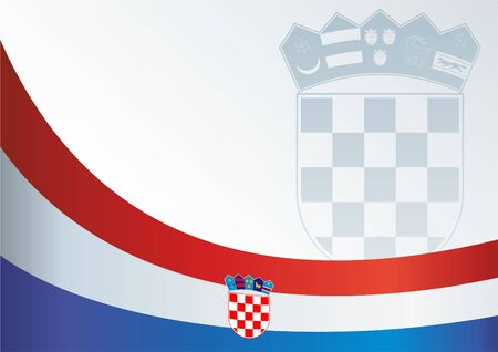 bandera croacia: Flag of Croatia, template for the award, an official document with a flag and a symbol of the Republic of Croatia