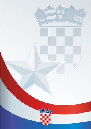 Flag of Croatia, template for the award, an official document with a flag and a symbol of the Republic of Croatia