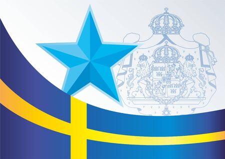 Drapeau de la Suisse, le modèle pour l'attribution, un document officiel avec le drapeau et le symbole de la Confédération suisse Banque d'images - 78261871