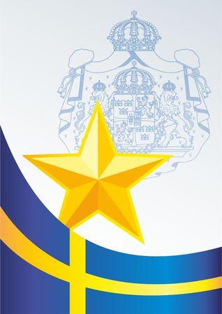 Drapeau de la Suisse, le modèle pour l'attribution, un document officiel avec le drapeau et le symbole de la Confédération suisse Banque d'images - 78261872