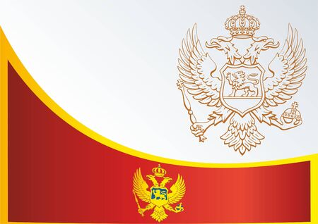 Flag of Montenegro, the template for the award, an official document with the flag and symbol of Montenegro