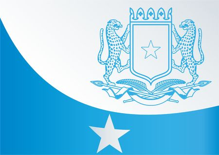 Flag of Somalia, the template for the award, an official document with the flag and the symbol of the Federal Republic of Somalia