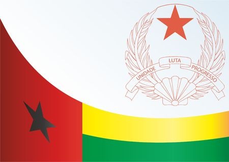 Flag of Guinea-Bissau, the template for the award, an official document with the flag and the symbol of the Republic of Guinea-Bissau