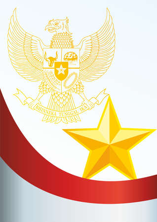 oceania: Flag of Indonesia, the template for the award, an official document with the flag and symbol of the Republic of Indonesia