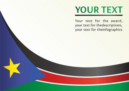남쪽 수단의 깃발, 상을위한 템플렛, 남 수단 공화국의 깃발이있는 공식 문서
