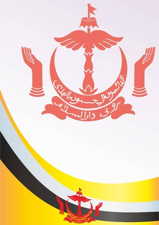 Flag of Brunei, template for the award, an official document with the flag and symbol of Nation of Brunei, Abode of Peace Ilustrace