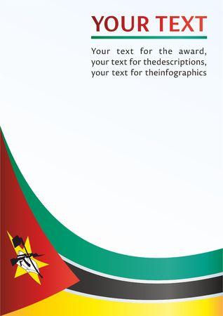 Flagge Mosambiks, Vorlage für die Auszeichnung, ein offizielles Dokument mit der Flagge der Republik Mosambik Standard-Bild - 78701650