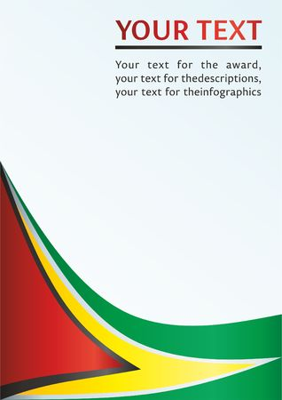 Flag of Guyana, template for the award, an official document with a flag of the Co-operative Republic of Guyana